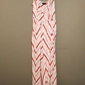 Pink and red patterned jumpsuit